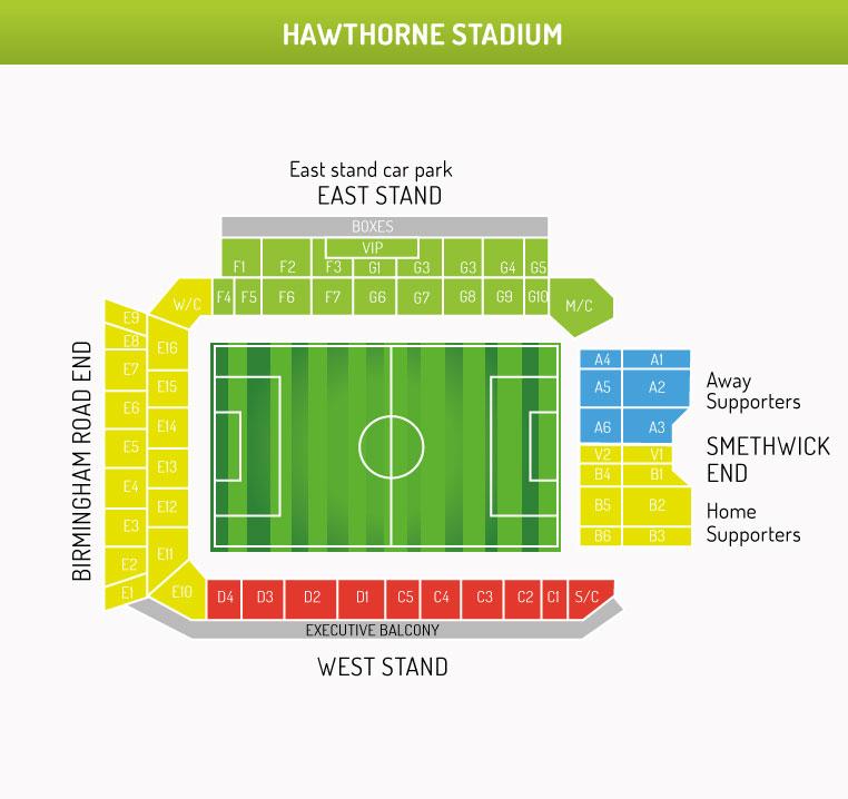 Hawthorns Stadium Map
